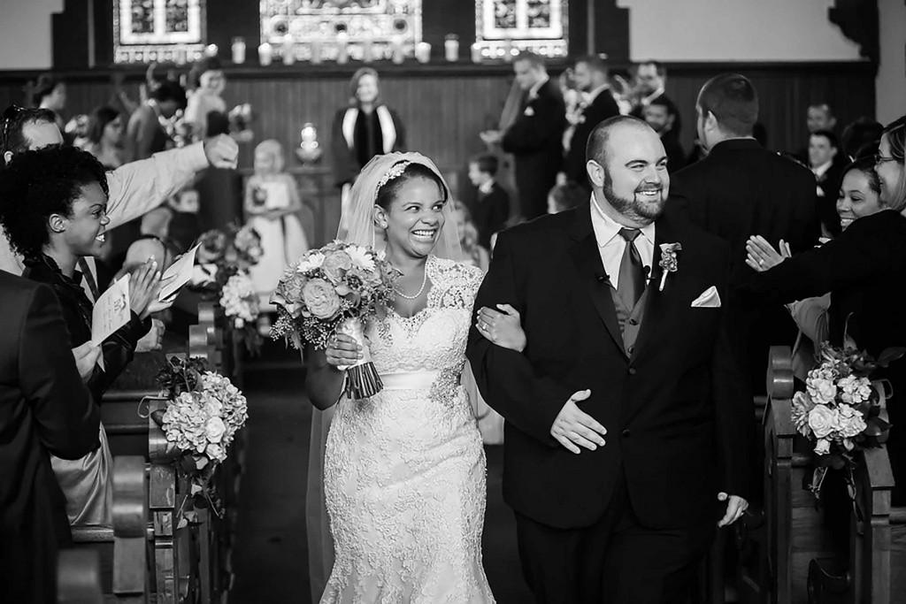 fall wedding at UVA chapel