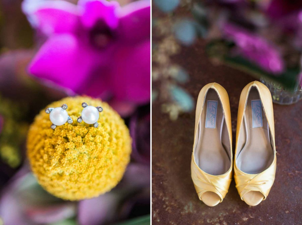 yellow and purple wedding colors