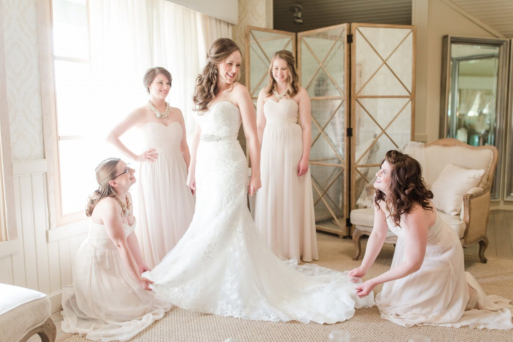 unique bridal party picture