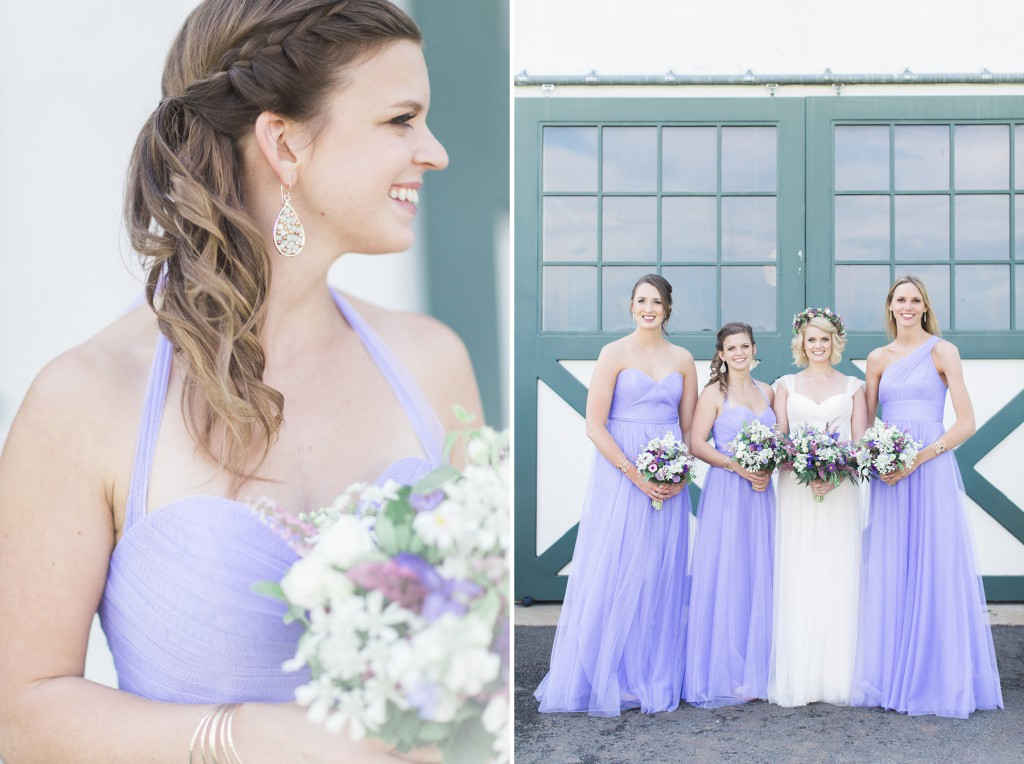 braided bridesmaids hairstyles