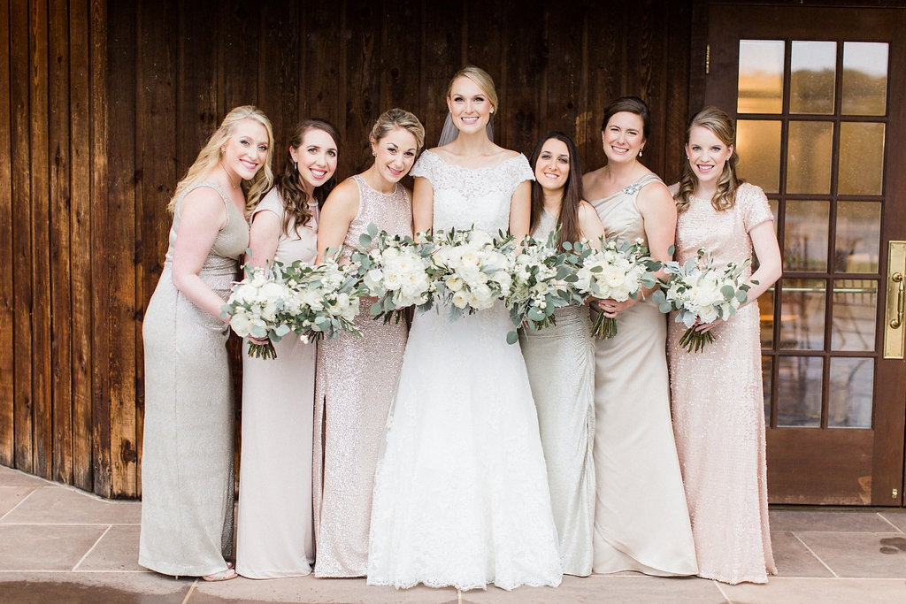 blush bridesmaid dresses inspiration